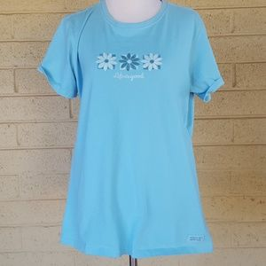 Life Is Good Tops - Life is Good Classic Fit Three Daisy Graphic Top
